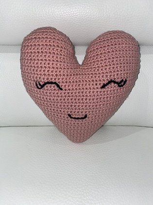 Crochet Heart (Happy Heart) Rose
