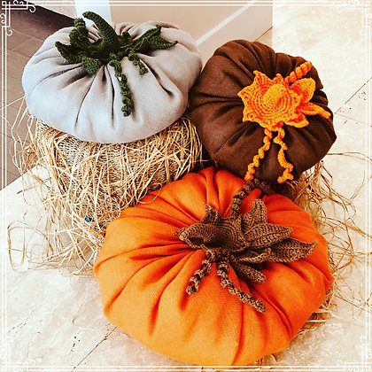 Burlap Pumpkins Fall Decor
