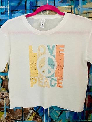 Crop Top Love Peace