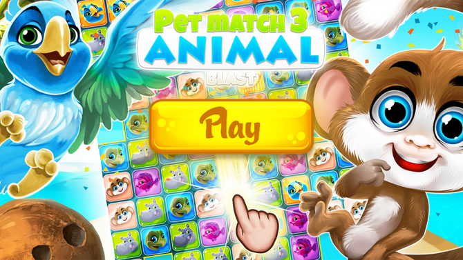 Pet Match 3: Animal Blast Game