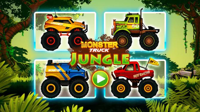 Jungle Monster Truck Kids Race