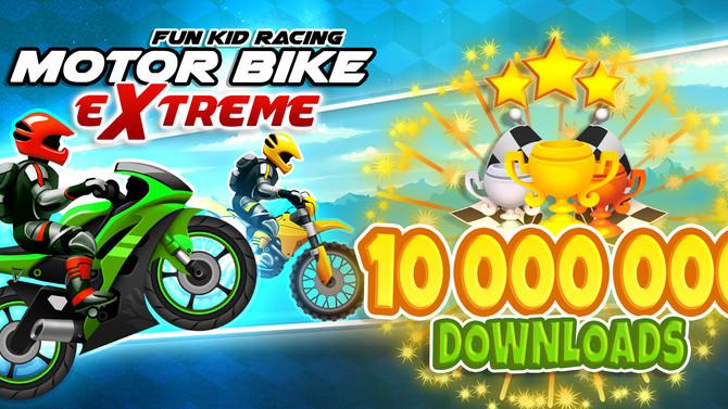 Fun Kid Racing - Motocross Gets 10 Million Game Downloads