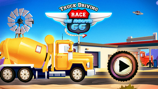 Truck Driving Race - U.S. Route 66