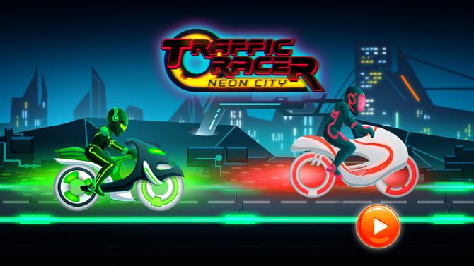 Traffic Rider Of Neon City