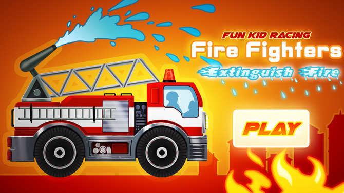 Fire Fighters Racing For Kids