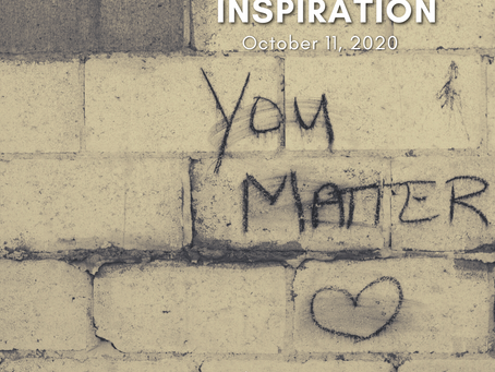 Day 10 - You Matter | 10 for 10 | Daily Inspiration - October 11