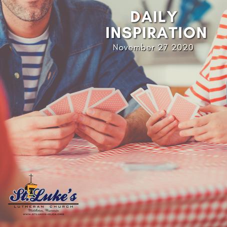 Daily Inspiration - November 27