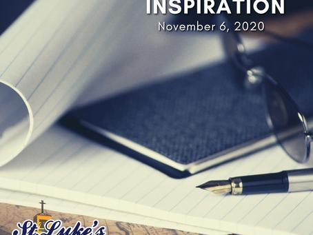 Daily Inspiration - November 6