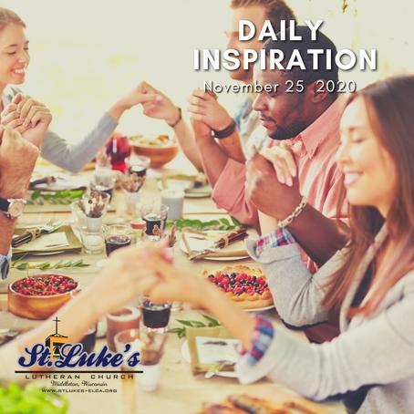 Daily Inspiration - November 25