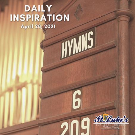 "Daily Inspiration - April 28, 2021   ""Better than King David?"""