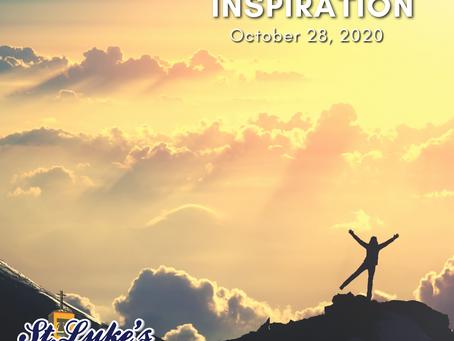 Daily Inspiration - October 28: Sadness to Joy
