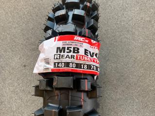 最近話題の競技専用タイヤ  IRC M5B EVO