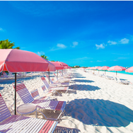 #36 resort beach with pink umbrellas 2.p