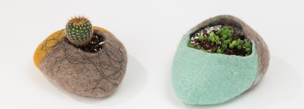 felted planters