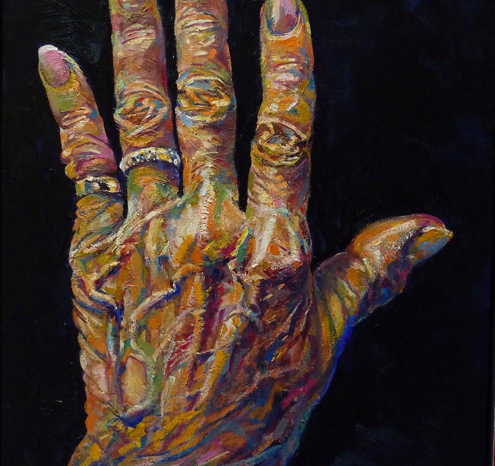 Les mains d'I, gauche, 100x81 cm
