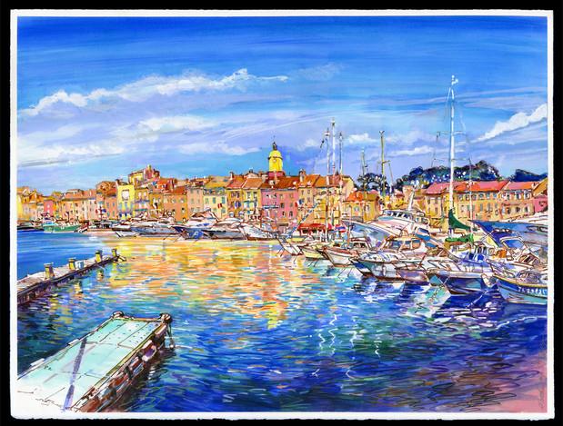 Saint-Tropez, le Port depuis les quais