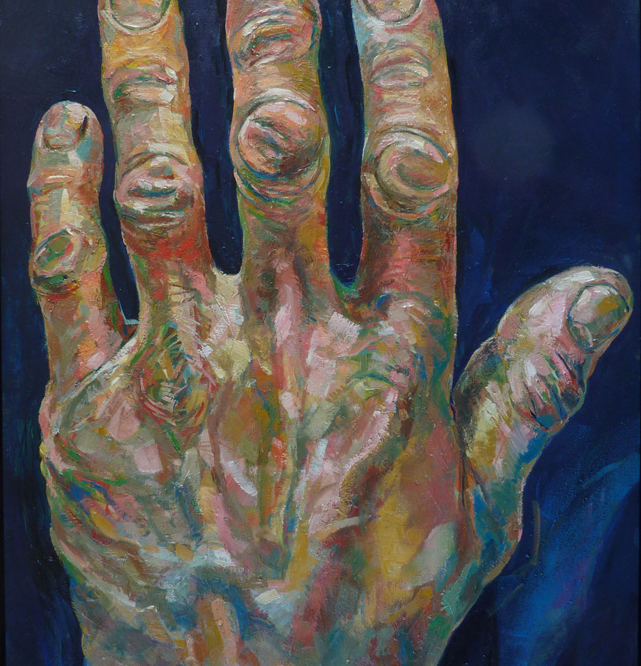 Les mains de MK, gauche, 130x97 cm