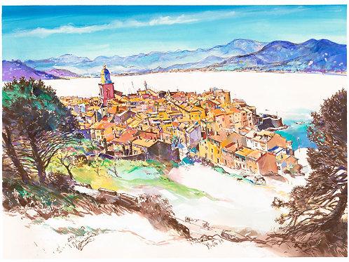 Saint-Tropez, Depuis la Citadelle, 2019. Tirage d'Art, signé, numéroté,