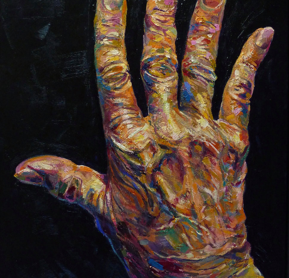 Les mains d'I, droite, 100x81 cm