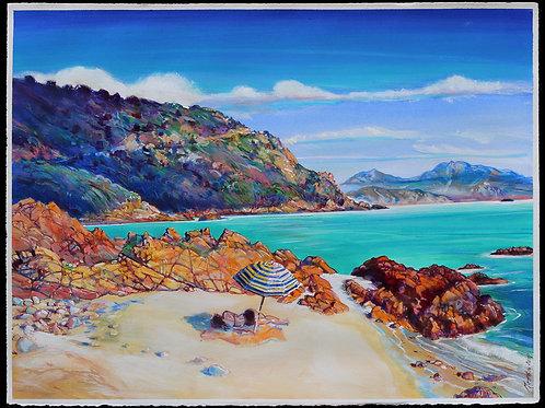 Sieste à Rocca Marina, Corse. Tirage d'Art, signé, numéroté, limité à 30 ex.