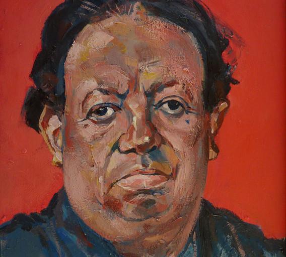 Diego Rivera, 2017, huile sur bois, 52x3
