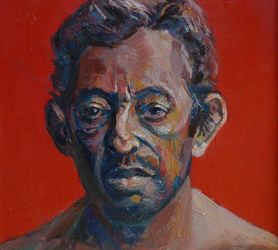 Serge Gainsbourg, 2017, Huile sur boite