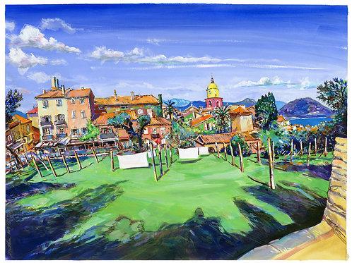 Saint-Tropez, jardin. 2019. Tirage d'Art, signé, numéroté, limité