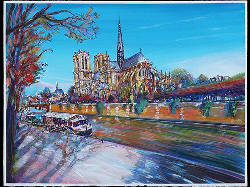 Notre-Dame, 2018, Paris. Tirage d'Art, signé, numéroté, limité à 30 ex.