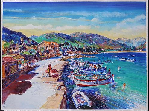 Le Port de Sagone, Corse. Tirage d'Art, signé, numéroté, limité à 30 ex.