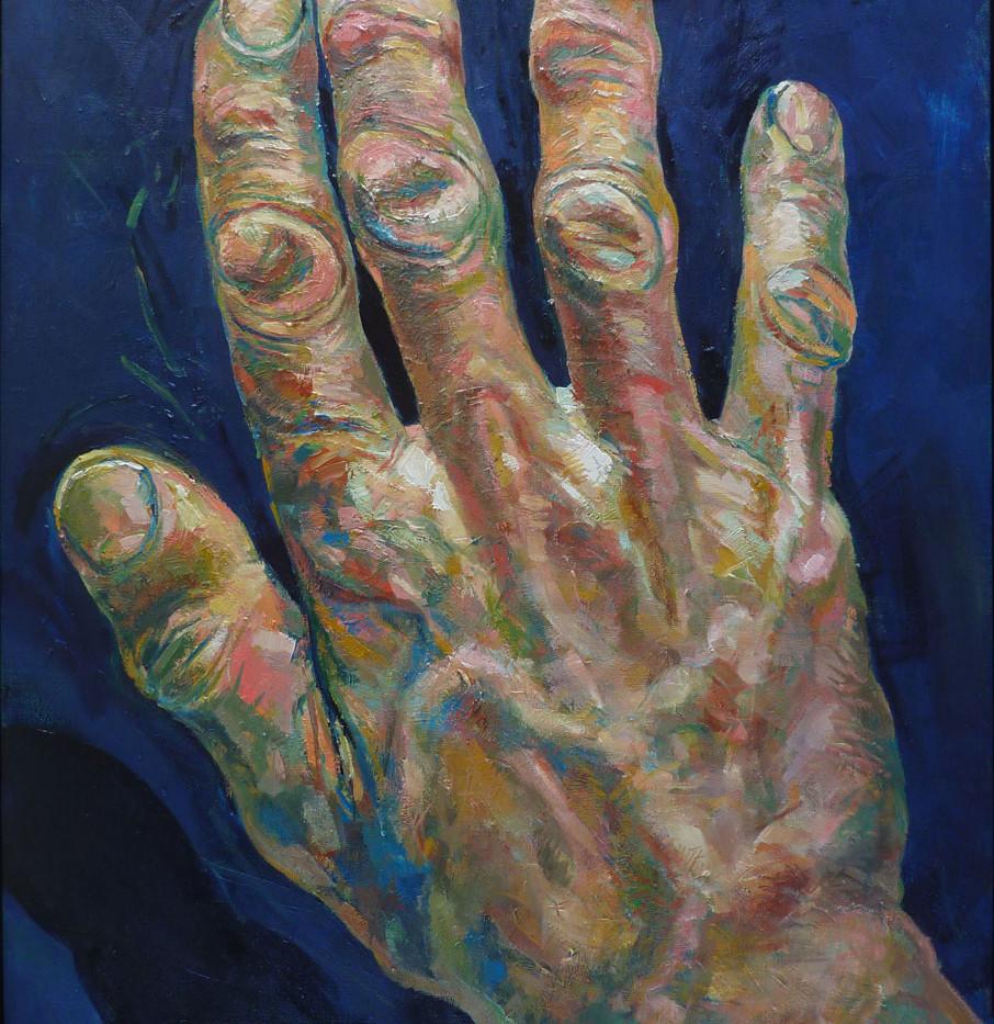 Les mains de MK, droite, 130x97 cm