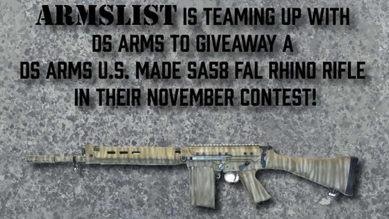 Armslist and DS arms are giving away an American made FAL. Thisis where to go to win!