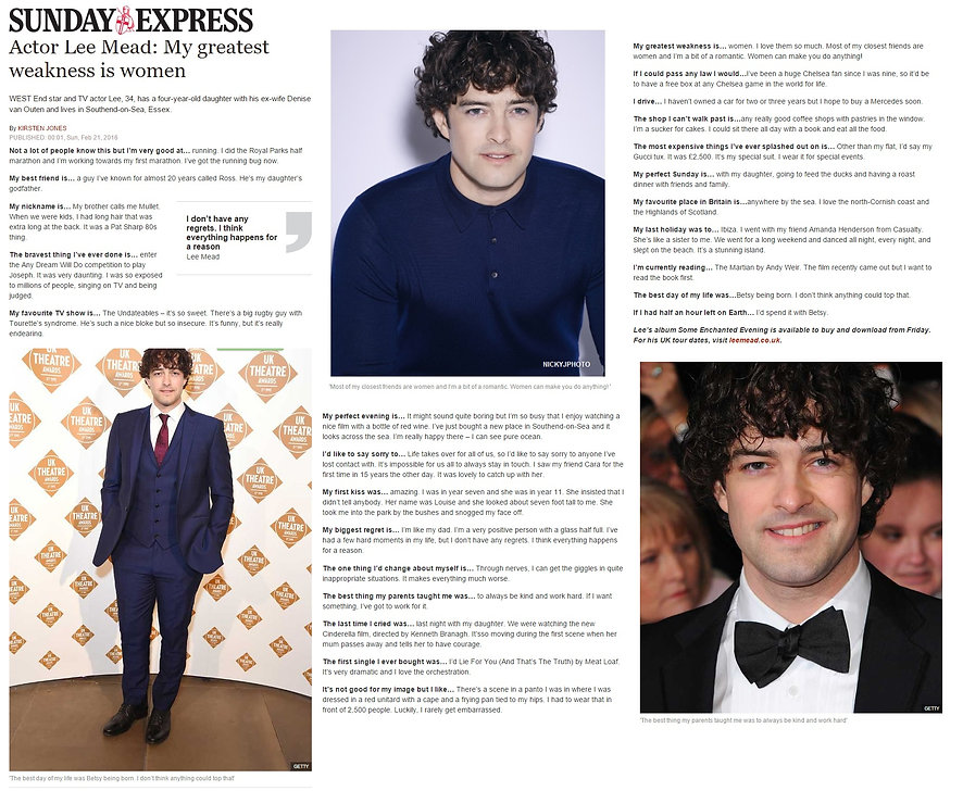 Lee Mead Uk Therare Awards