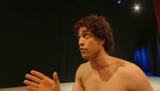 Lee Mead singing in his loincloth