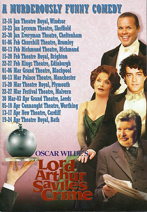 Lee Mead in Lord Arthur Savile  Crime