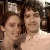 Lee Mead and Leanne Falconer from Meadaholics