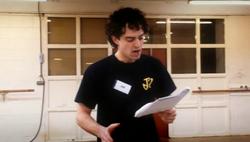 Lee Mead singing at Joseph School