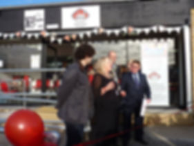 "Penni and leemeadofficial ""ribbon cutting"""