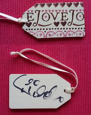 Toot Sweet Bag signed tag