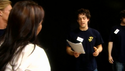Lee Mead singing for Zoe