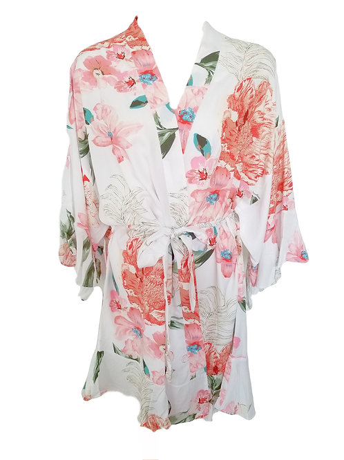 Floral Ruffle - White