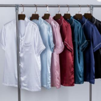 Short Satin Pajama Set