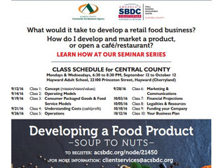 Free food business seminars from 9.12.16