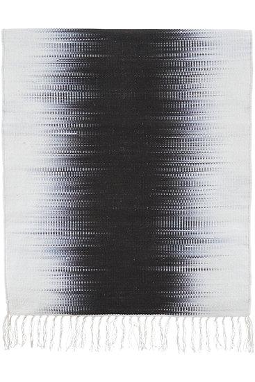 שטיח כותנה שחור ולבן