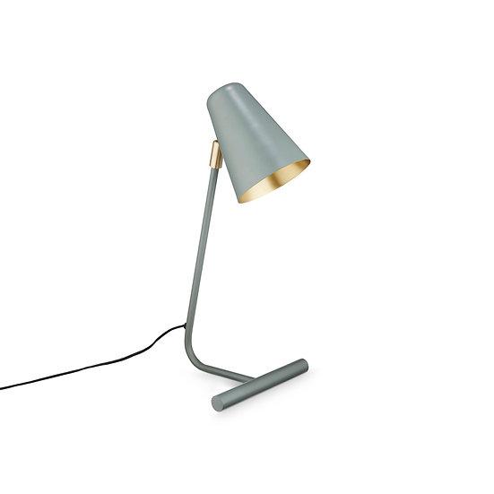 מנורת מתכת בראס וירוק