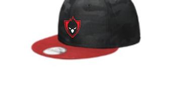 Black/Red Camo Hat
