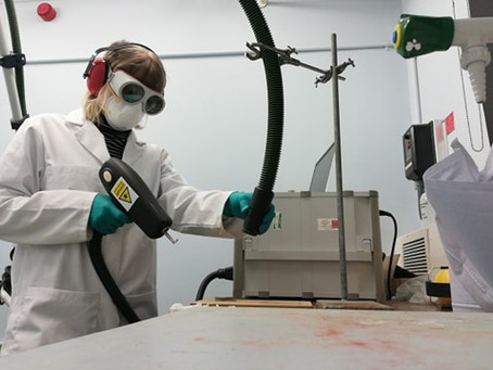 Archaeology conservation - laser cleaning