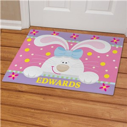 Easter Bunny Doormat Personalized with Family's Name