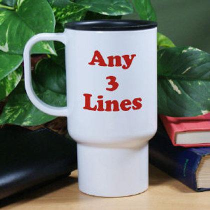 Any Message Personalized Travel Mug