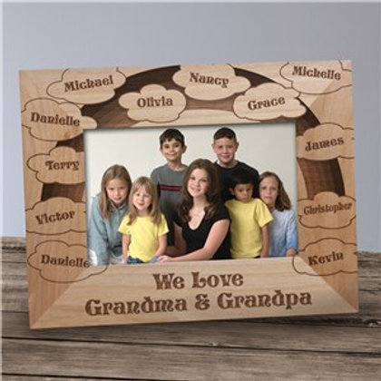 Clouds of Love Wood Picture frame
