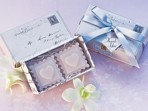 Stamped with Love Scented Soaps Favors